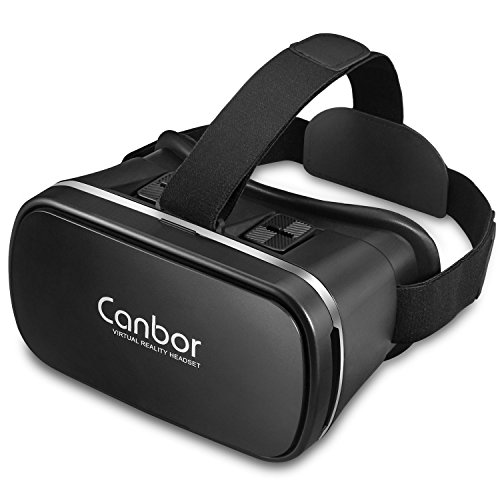 Canbor VR Headset,VR Goggles Virtual Reality Headset 3D VR Glasses VR Box for 3D Video Movies Games for Apple iPhone, Samsung Sony HTC More Smartphones