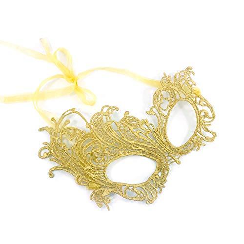 Gorgeous Gold Renaissance Lace Masquerade Mask by Samantha Peach -
