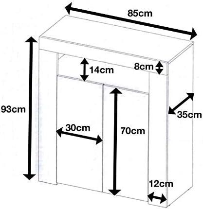 Furneo High Gloss & Matt White 2-door Sideboard Cabinet Cupboard Unit LED Lights Clifton01