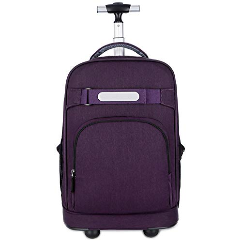per fino Rolling Carry BackpackRollingCon on 16 ruote porpora Bbx In laptop polliciviola Baggage Bag Travel Trolley CanvasCarry SuitcaseRulli a f7b6gy
