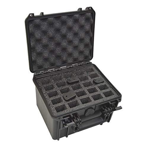25 Pistol Magazine Doro Waterproof Firearm Ammunition Case with Custom Mycasebuilder Foam Insert