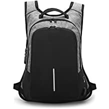 AMYPZN Casual Laptop Backpack,Business Anti Theft Durable Bag Leisure Sling Daybag with USB Charging Port,Water Resistant College School Computer Bag (Backpack)