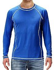 Herenoverhemden met lange mouwen Lichtgewicht UPF 50+ Zonbescherming SPF T-shirts Vissen Wandelen Hardlopen