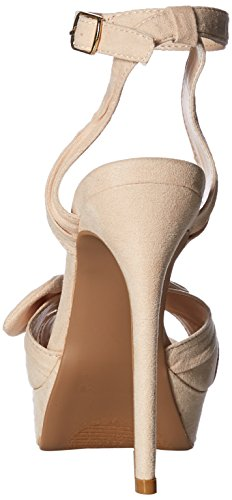Qupid Women's Nude Platform Heeled Sandal drqdwzI