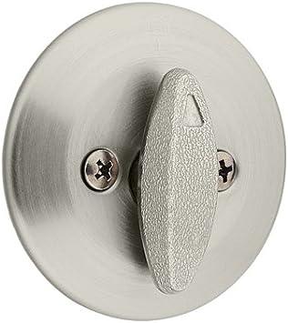 Kwikset 663 15 Bp Rclrcs Single Sided Deadbolt With Thumbturn Satin Nickel Amazon Co Uk Diy Tools