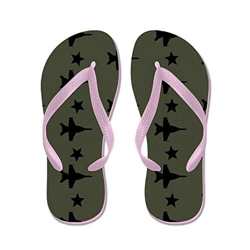 CafePress F-18 Hornet Fighter Jet Pattern (Milita - Flip Flops, Funny Thong Sandals, Beach Sandals