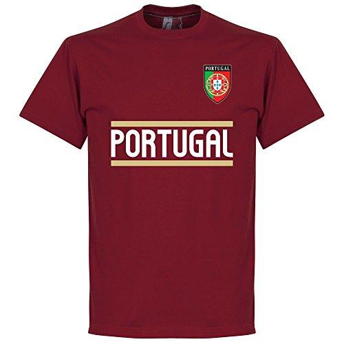 Il Portogallo Maglietta a maniche corte della squadra, colore: bordeaux