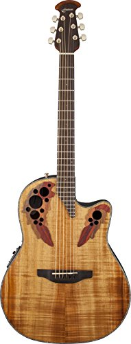 Amazon.com: Ovation CE44P-FKOA Celebrity Elite Plus Figured Koa Guitar with Gig Bag and Accessory Kit: Musical Instruments