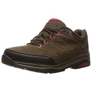 New Balance Men's 1300 Trail Walking Shoe, Brown/Red, 9.5 4E US