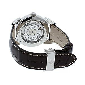 Cuervo y Sobrinos 3194D.1T Men's Swiss Luxury Watch Historiador Dual Time Tobacco Dial Brown Matte Strap