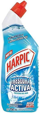 Harpic Frescura Activa Líquido Removedor De Sarro Fragancia Frescura Del Mar, 750 Ml