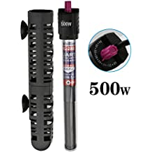A-SZCXTOP HL-288 500 W Aquarium Heater with Suction Cup, Explosion-proof Submersible Heater, Adjustable Temperature Fish Tank Water Heater, Up to 125 Gallon Aquarium Tank (500W-Up to 125 Gallon)