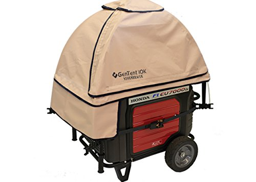 GenTent 10K Generator Tent Running Cover - XKU Kit (Standard, TanLight) - Compatible with 3000w+ Inverter Generators by GenTent Safety Canopies (Image #5)