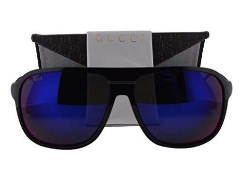 Gucci GG 1076/S Shiny Black w/Gray Infrared Lens - Aviators Black Famous