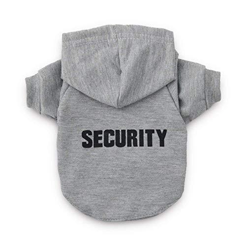 DroolingDog Dog Clothes Security Pattern Dogs XXL Shirts Large Dog Clothes, XXL, Grey -