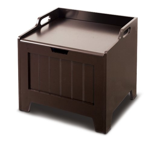 Pet Toy Storage Box, MDF Pained in Espresso, My Pet Supplies