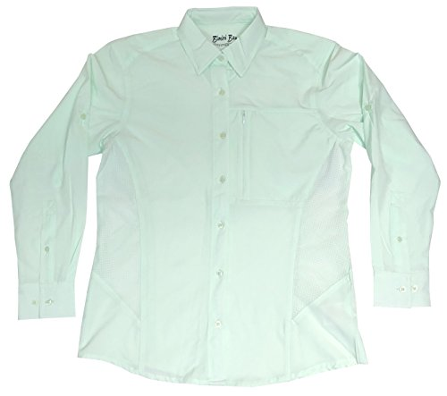 s Clearwater Long Sleeve Women's Shirt (Sea Glass, Medium) (Clearwater Glass Panels)