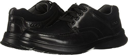 (Clarks Men's Cotrell Edge Oxford, Black Smooth Leather, 110 M US )