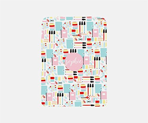 Personalized Blanket Adult, Soft Blanket Fleece, Travel Blanket Airplane, Stationery Addicts Blanket Throw,