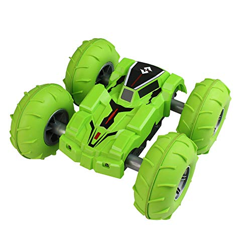 (Sikye Remote Control Car,2.4G 4WD 25Km/h High-Speed Double Sided Stunt Car Surprise Toys and Gifts for Toddler Boys Girls (Green))