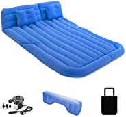 Ergocar Inflatable Bed Double MPV&SUV Car Air Mattress Flocking with Pillows Electric Fast Inflation Pump