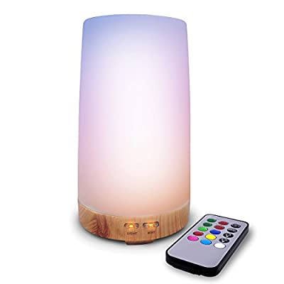 LED Concepts Essential Oil Diffuser/Aroma Oil Cool Mist Humidifier with Remote Control— Includes 7 LED Light Changing Colors and Relaxing Misting Modes—Perfect for Home, Office, Spa, and more
