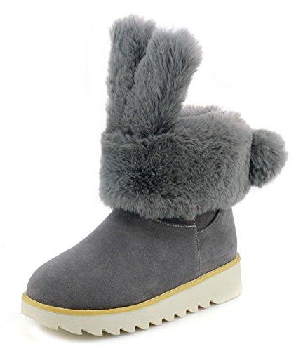 Aisun De Femme Neige Mignon Gris Chaussures Bottines Cadeaux wfRqfrCx