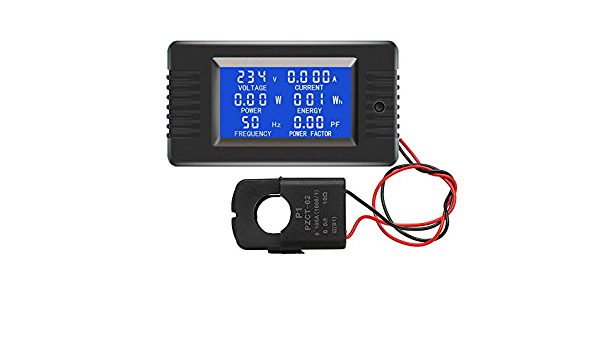 PZEM-022 100A AC Power Monitor Meter Voltmeter Voltage Factor Meter w// Split CT