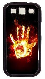 Samsung S3 Case Hand Stays Fire PC Custom Samsung S3 Case Cover Black