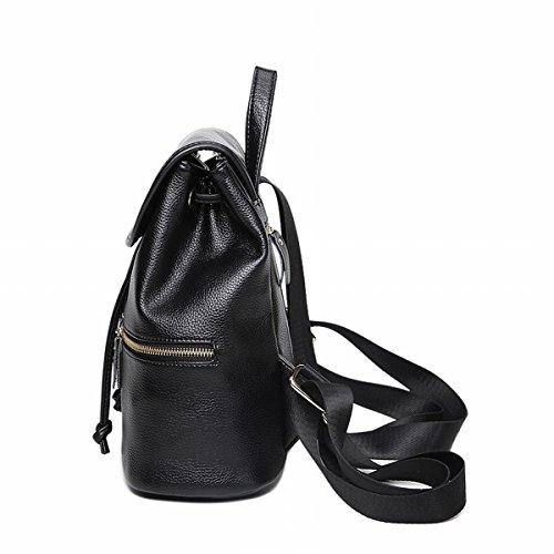 Bolso de Hombro femenino de la borla de la bolsa del Bolso del Bolso de la manera Negro
