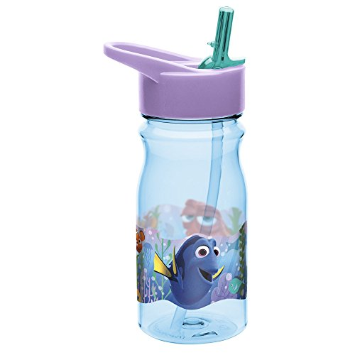 Zak Designs Finding Dory 16 oz. Water Bottle with Straw, Dory