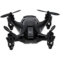 Qsmily® XINLIN X165 RC Mini Drone Remote Control Helicopter Nano Hexacopter 2.4GHz 6 Axis Gyro 3D Roll Quadcopter (Black)