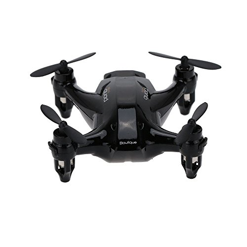 Qsmily® XINLIN X165 RC Mini Drone Remote Control Helicopter Nano Hexacopter 2.4GHz 6 Axis Gyro 3D Roll Quadcopter (Black) by Qsmily