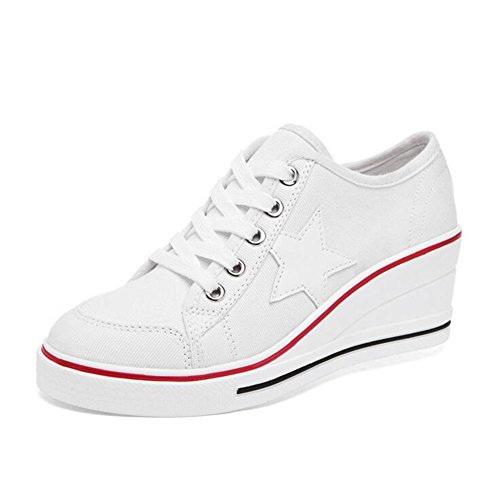 Black Otoño Exing Comfort Primavera Pink Zapatos de Flat White Red Zapatillas Mujer Heel Segundo PU Poliuretano TrgrqOwY