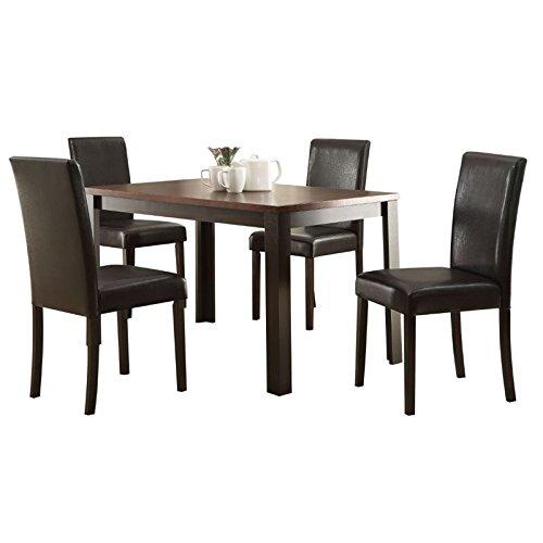 Acme Furniture 71800 Kylan 5 Piece Dining Set, Dark Cherry & Espresso Cherry Rectangular Dining Table Set