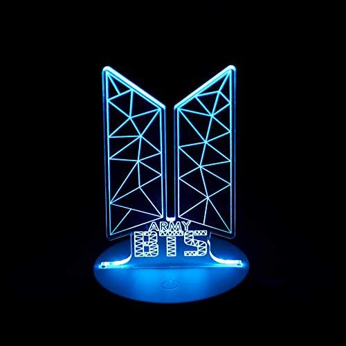 Kpop BTS Bangtan Boys 7 Colors LED Night Light USB Acrylic Home Room Decoration for Army Gifts