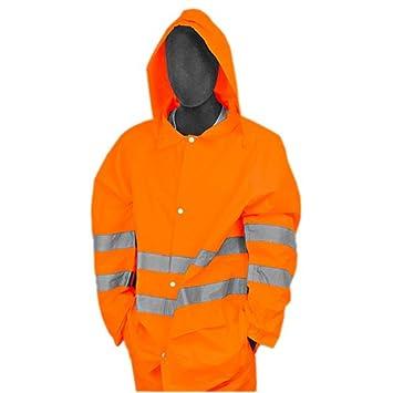 8e2a0d2d40b Majestic clase 3 de alta visibilidad chaqueta impermeable de poliuretano  (75 - 1352): Amazon.es: Amazon.es