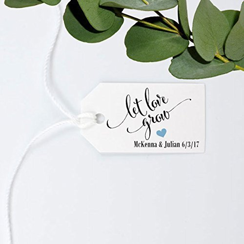 Let Love Grow Tag Wedding Favor Gift Personalized Custom Made