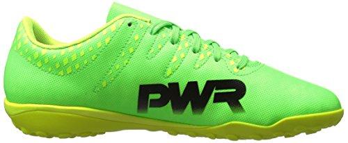 Puma Mens evoPOWER Vigor 4 TT Soccer Shoe Green Gecko-puma Black-safety Yellow