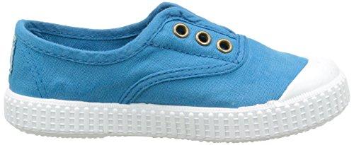 victoria Inglesa Lona Tintada Punt, Unisex-Kinder Sneakers, Blau - Bleu (130 Royal) - Größe: 27 EU