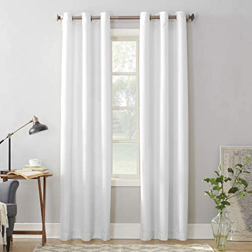 No 918 Montego Casual Textured Grommet Curtain Panel 48 X 84 White Home Kitchen Amazon Com