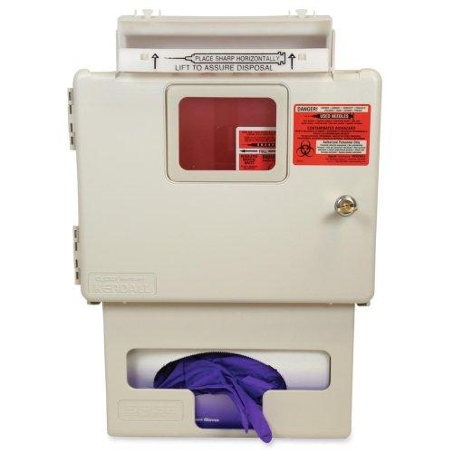 Wholesale CASE of 5 - Unimed Sharps 5 qt. Wall Mount Sharps Cabinet-Biohazard Wall Cabinet,Sharps G/Box, Bonus 5 Qt.Sharpstar