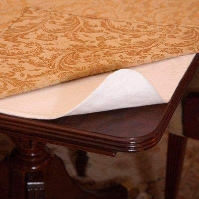 Spill Stain Proof 2 In 1 Table Pad Heat Resistant Great Looking Tablecloth 54x90 Silver Fiber Luxury Table Protector Pad Flannel Backing Accessories Kolenik Table Pads