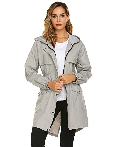 Avoogue Womens Rain Coat Waterproof Lightweight Rain Jacket Active Hooded Women