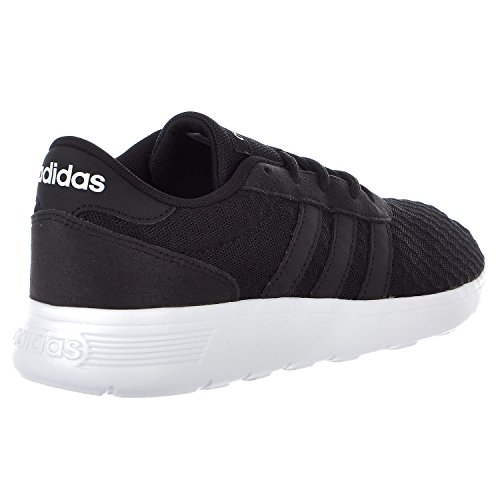 adidas NEO Women's Lite Racer W Sneaker, Black/White, 8.5 M US