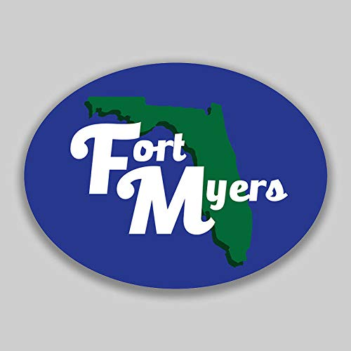 JB Print Magnet Fort Myers Florida Oval Vinyl Town City College University Vinyl Decal Sticker Car Waterproof Car Decal Magnetic Bumper Sticker 5