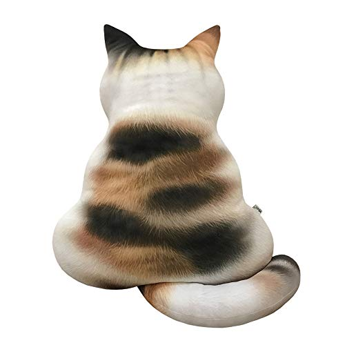 (❤Ywoow❤ Pillow, 3D Printed Cat Back Cushion Plush Toy Gift Simulation Cat Pillow)