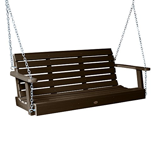 Highwood Weatherly Porch Swing 5 feet, Weathered Acorn