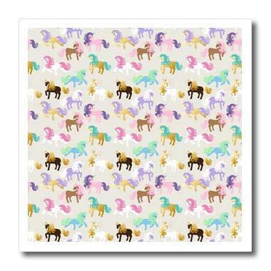 3dRose Anne Marie Baugh Cute Pastel Black,and Gold Color Unicorn Pattern T-Shirts Patterns