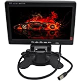 Padarsey 7 Inches TFT Color LCD Car Rear View Camera Monitor Support Rotating The Screen and 2 AV Inputs (7 Inch LCD Monitor)